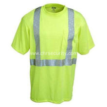 Men's Hi-Visibility Yellow Short Sleeve Shirt